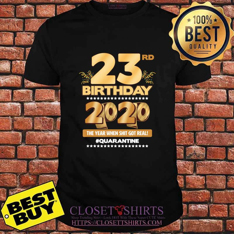 23rd Birthday Quarantined 2020 Gift Limited Born in 1997 Tee T-Shirt