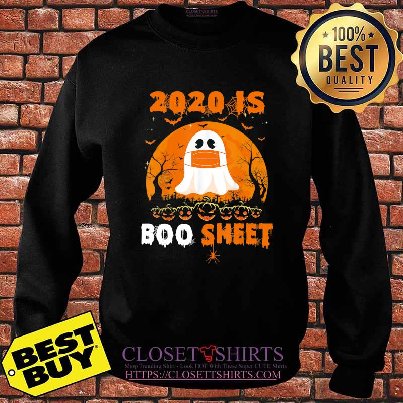2020 Boo Sheet Funny Ghost in Mask Simple Halloween Costume T-Shirt Sweater