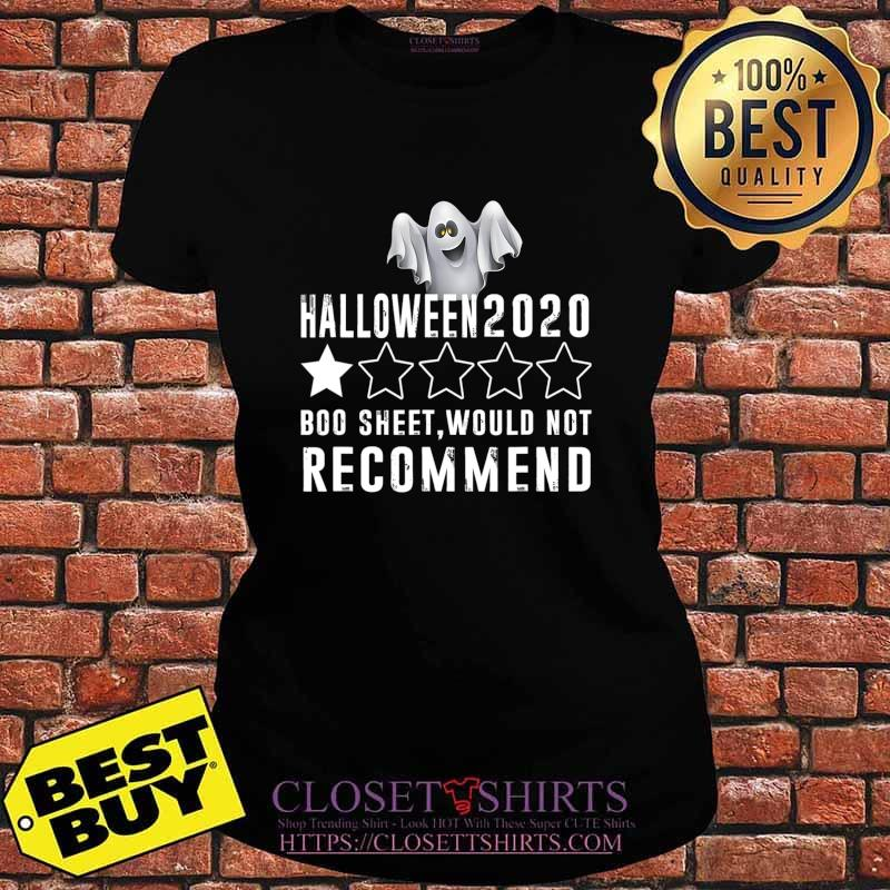 2020 Is Boo Sheet Would Not Recommend Funny Halloween T-Shirt V-neck