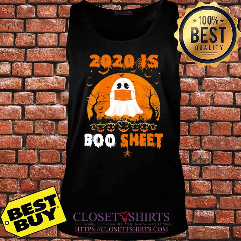 2020 Boo Sheet Funny Ghost in Mask Simple Halloween Costume T-Shirt Tank top