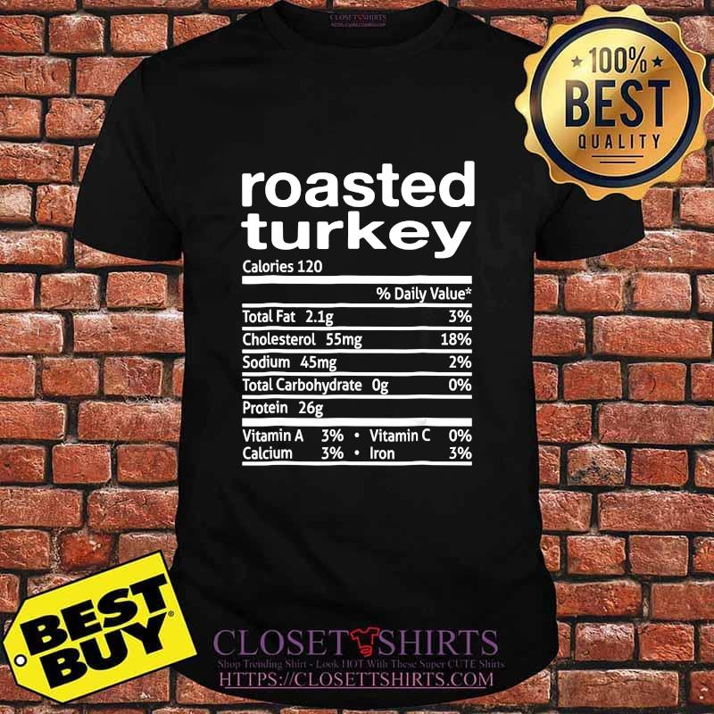 Roasted turkey nutrition facts 2020 thanksgiving christmas shirt