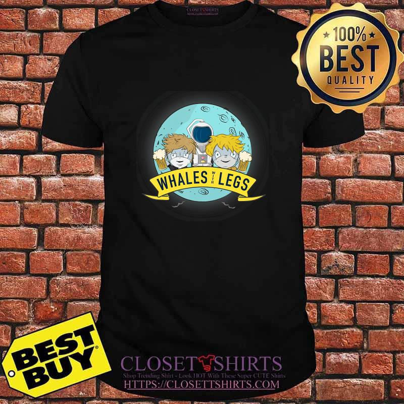 Official whales with legs illustration shirt
