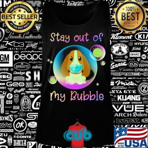 Basset hound stay out of my bubble coronavirus mask covid-19 s Tank top