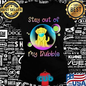 Golden retriever stay out of my bubble coronavirus mask covid-19 s Ladies tee