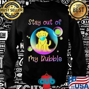 Golden retriever stay out of my bubble coronavirus mask covid-19 s Sweater