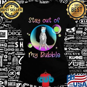 Great dane stay out of my bubble coronavirus mask covid-19 s Ladies tee