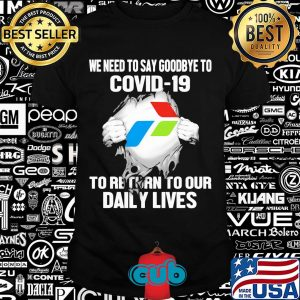 Pertamina we need to say goodbye to covid-19 to return to our daily lives hands shirt