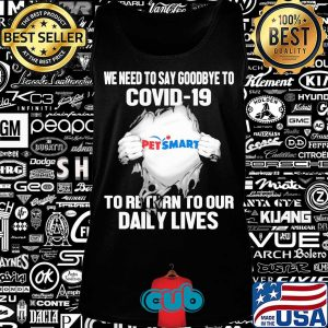 Pet smart we need to say goodbye to covid-19 to return to our daily lives hands s Tank top