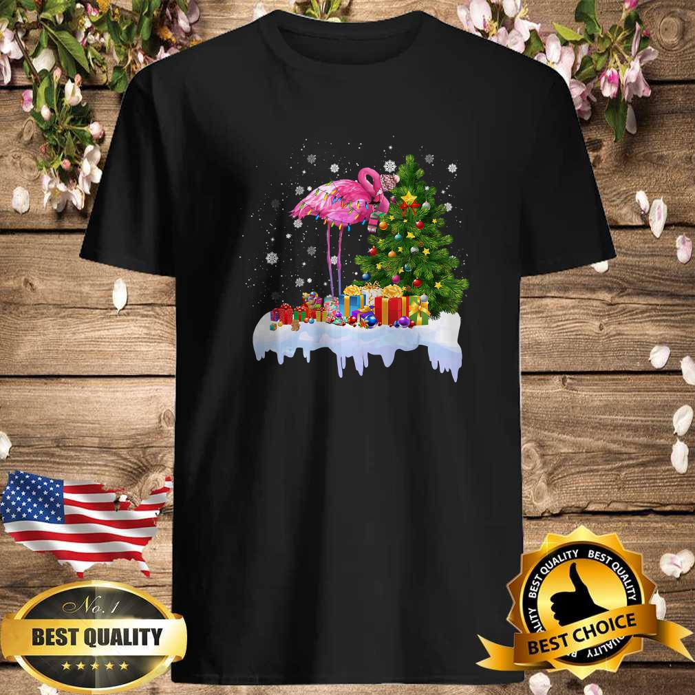 6b2ef04e flamingo christmas tree lights ornament decor shirt - Cubtee shop - Trending and funny Merchandise shop in the USA