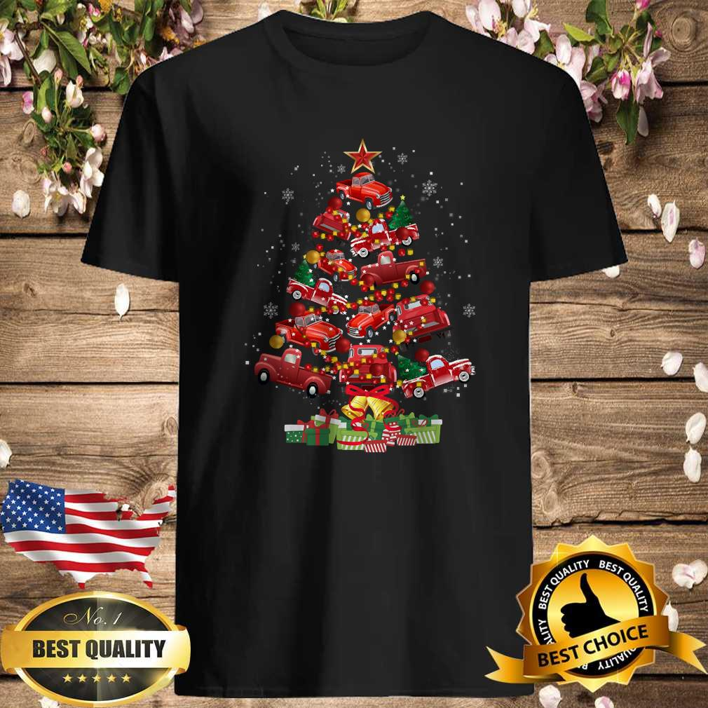 88b02159 truck christmas tree trucking noel truck travel xmas holiday shirt - Cubtee shop - Trending and funny Merchandise shop in the USA