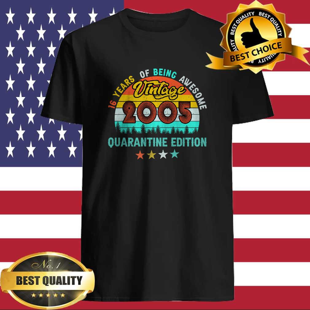 cdad52da 16 years old of being awesome vintage 2005 quarantine edition t shirt - Cubtee shop - Trending and funny Merchandise shop in the USA