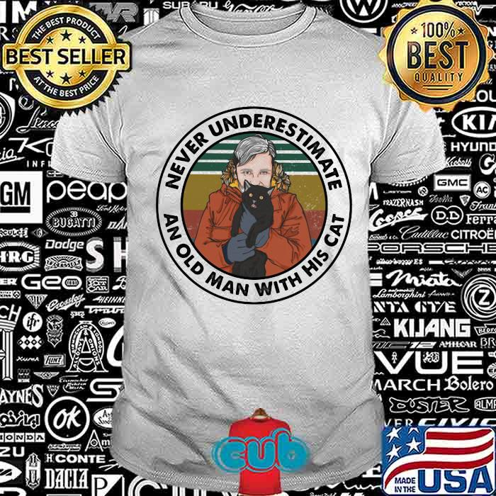 4ad41552 never underestimate an old man with his cat vintage shirt unisex - Cubtee shop - Trending and funny Merchandise shop in the USA