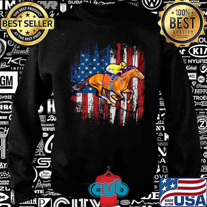 American Flag Horse Racing shirt – Copy