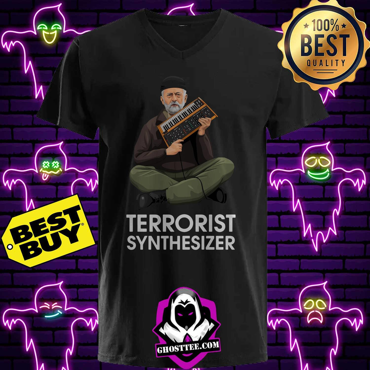 official terrorist synthesizer v neck - Official Terrorist Synthesizer shirt
