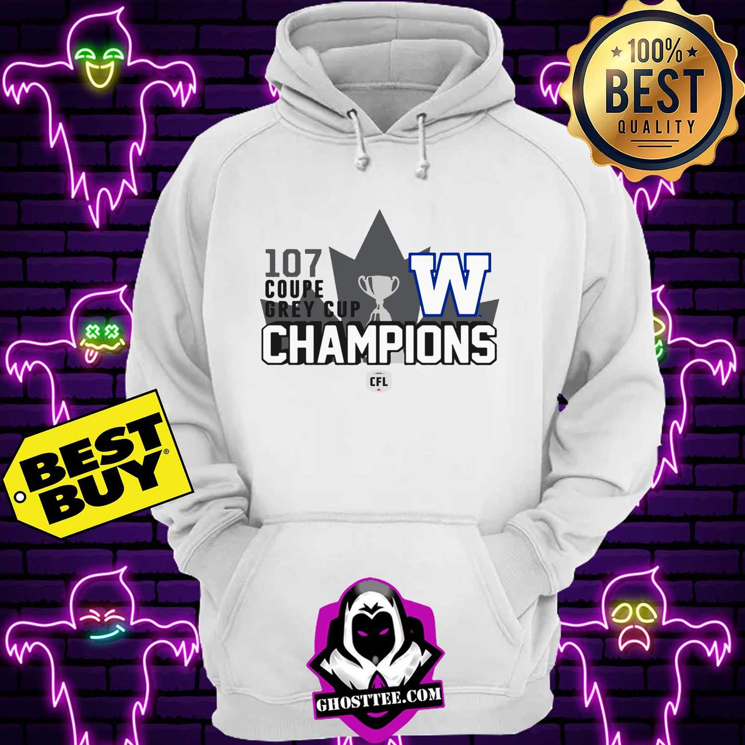 107th coupe grey cup winnipeg blue bombers champions cfl hoodie - 107th Coupe Grey Cup Winnipeg Blue Bombers Champions CFL shirt