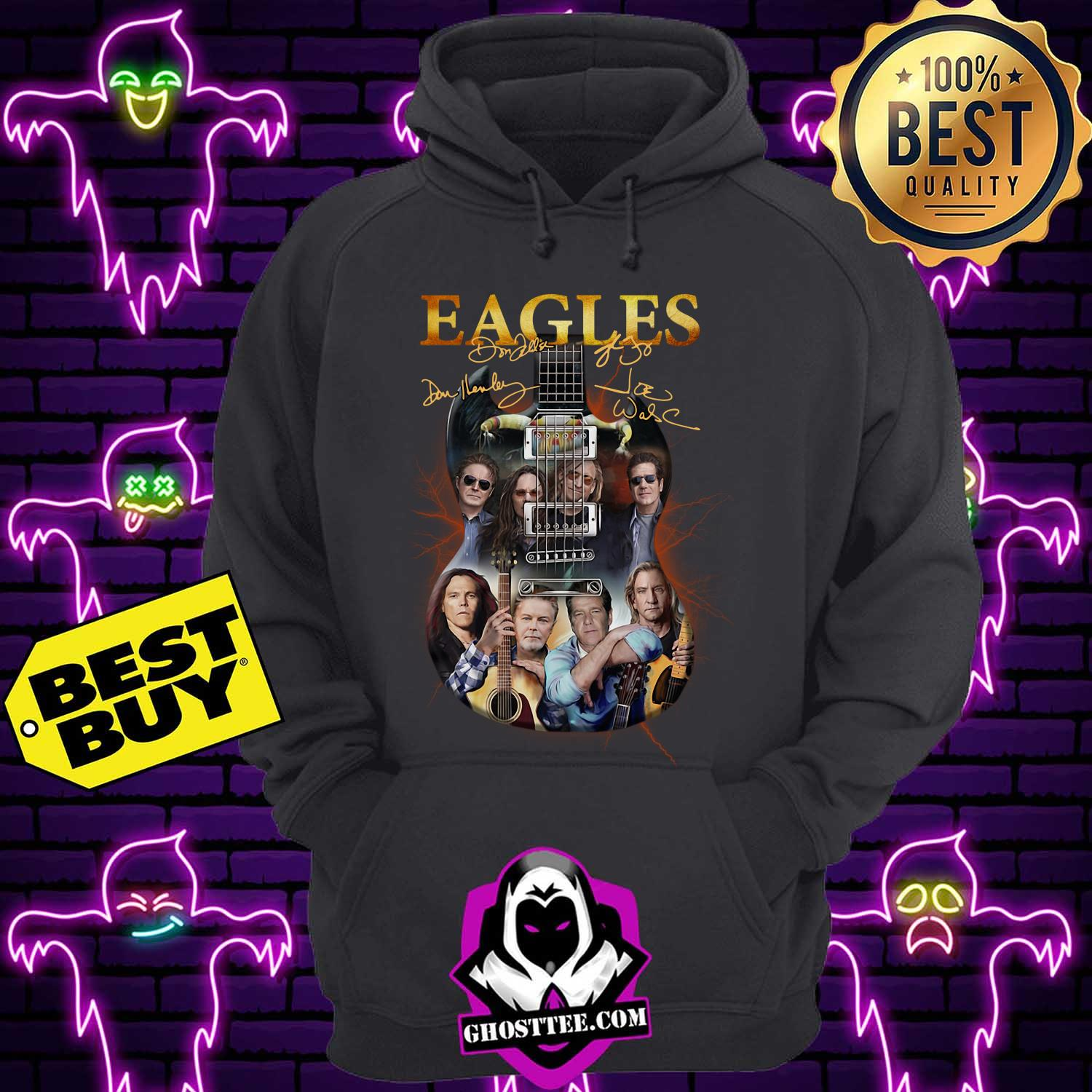 eagles band guitar signature hoodie - Eagles Band guitar signature shirt