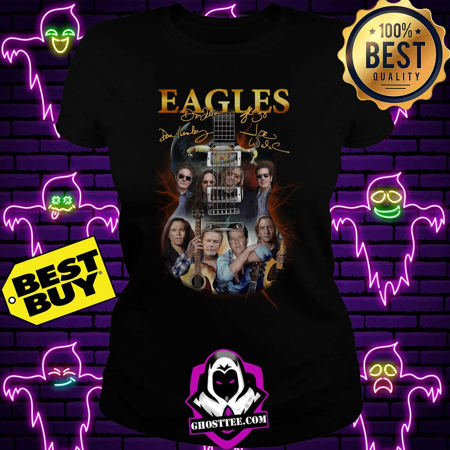 eagles band guitar signature ladies tee - Eagles Band guitar signature shirt