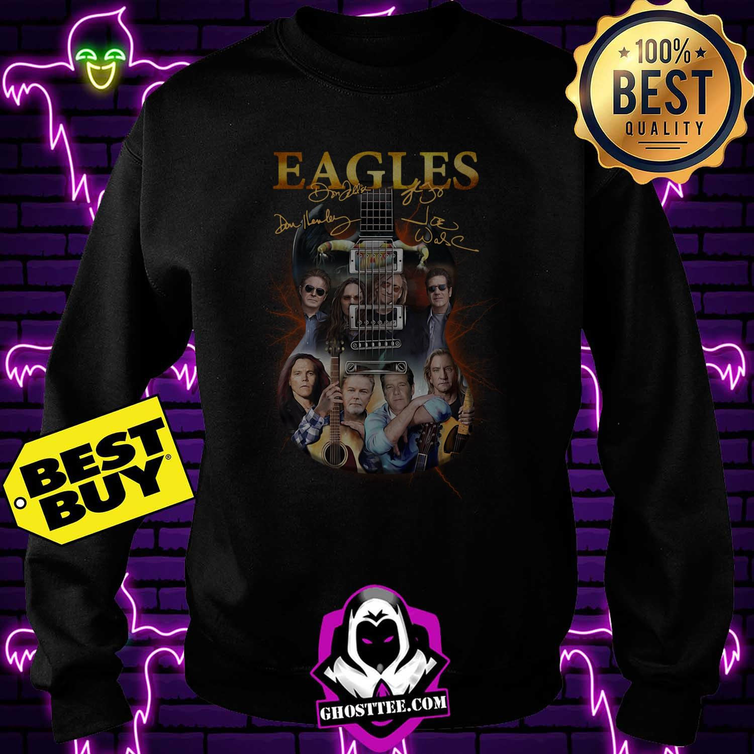 eagles band guitar signature sweatshirt - Eagles Band guitar signature shirt