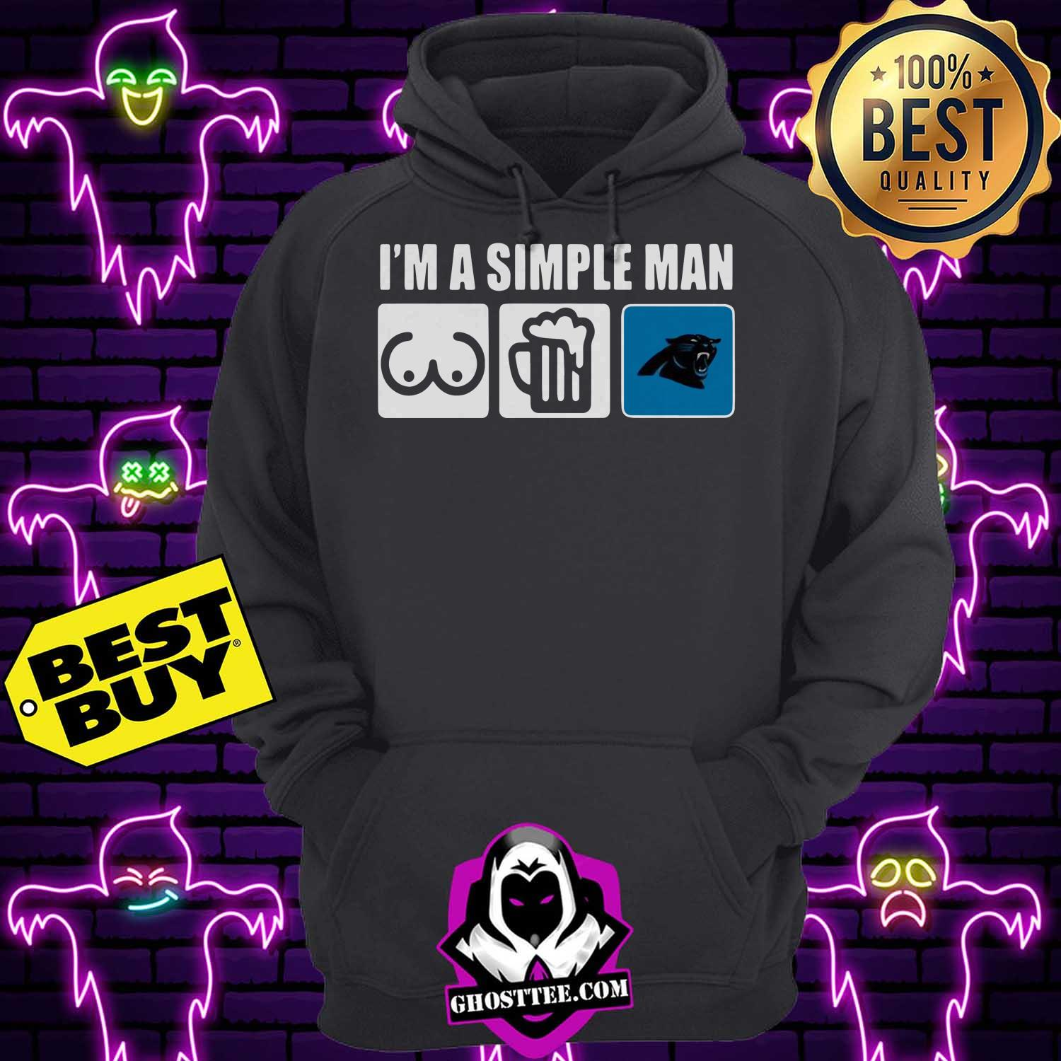 im a simple man loves bobs beer carolina panthers hoodie 1 - I'm A Simple man Loves Bobs Beer Carolina Panthers shirt