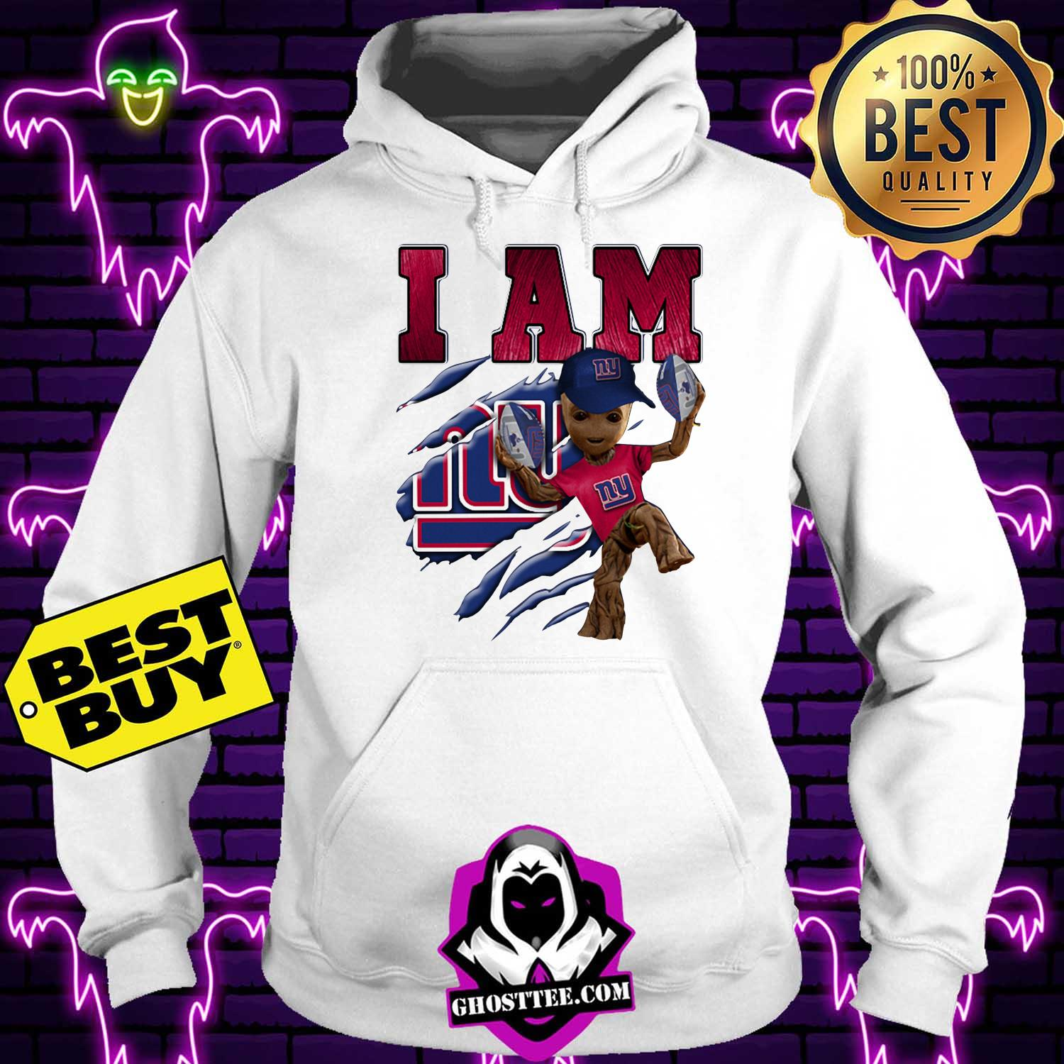nfl new york giants i am groot hoodie - NFL New York Giants I am Groot shirt