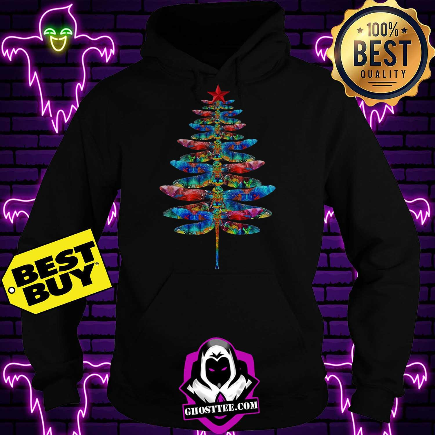 official dragonflies christmas tree hoodie - Official Dragonflies Christmas tree shirt