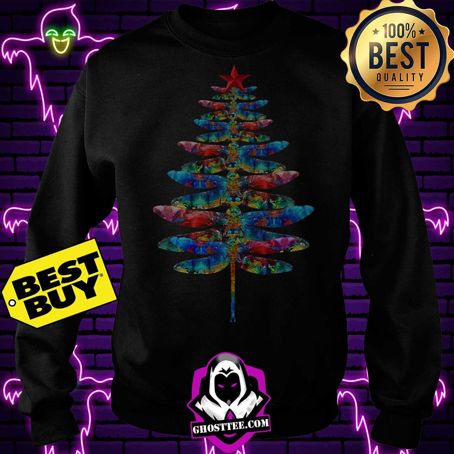 official dragonflies christmas tree sweatshirt - Official Dragonflies Christmas tree shirt