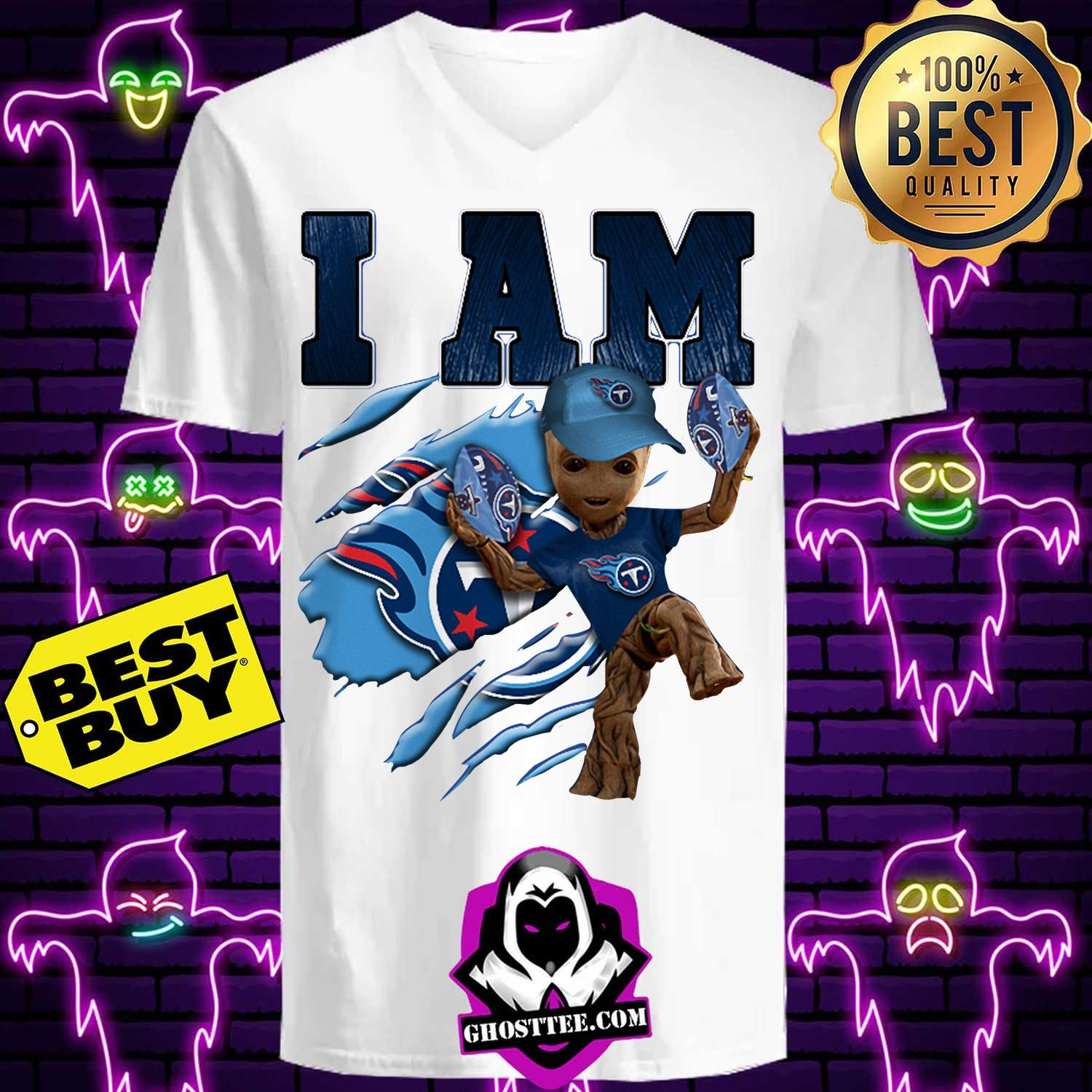 tennessee titans i am groot ladies tee - Tennessee Titans I am Groot shirt