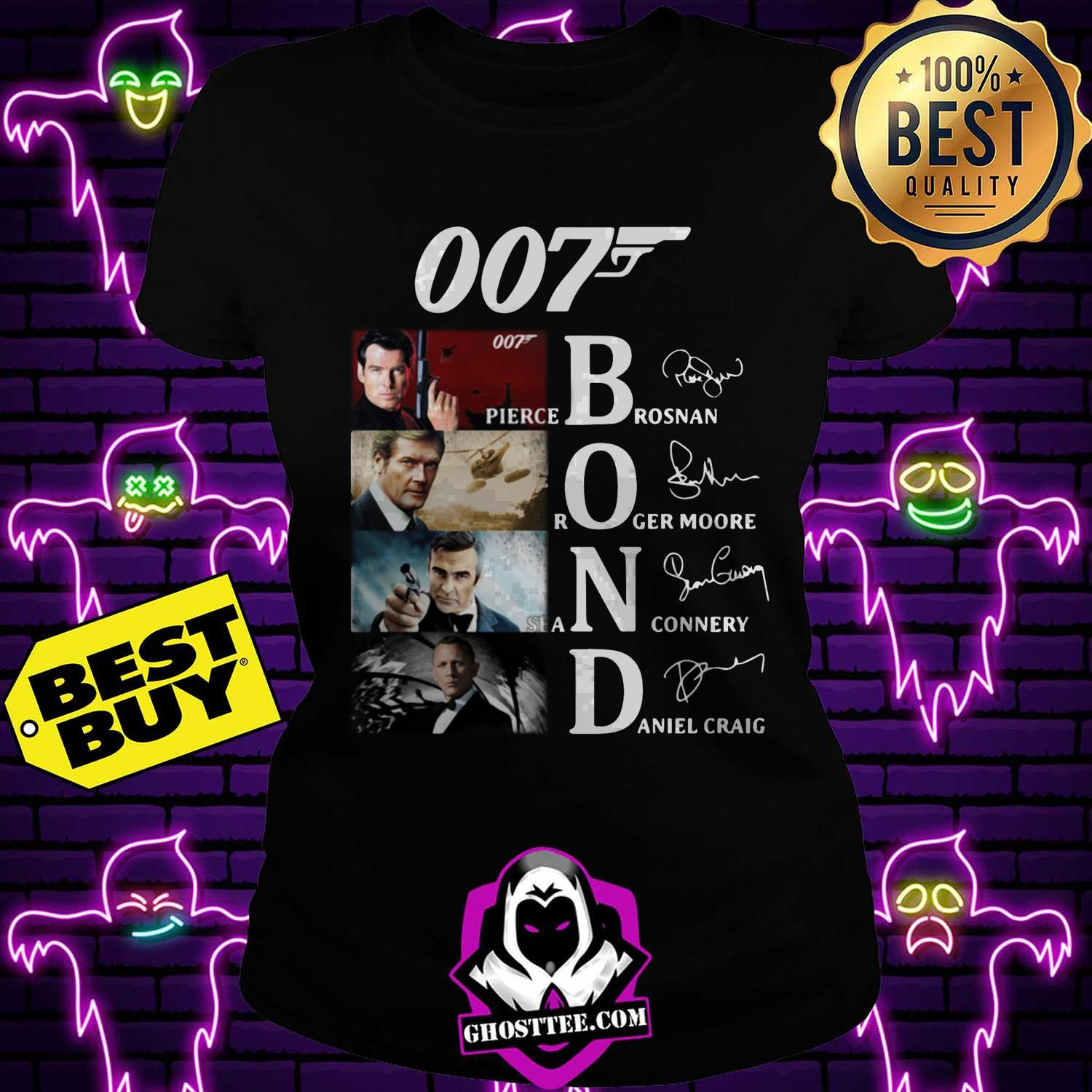 007 james bond signature ladies tee - 007 James Bond signature shirt sweater