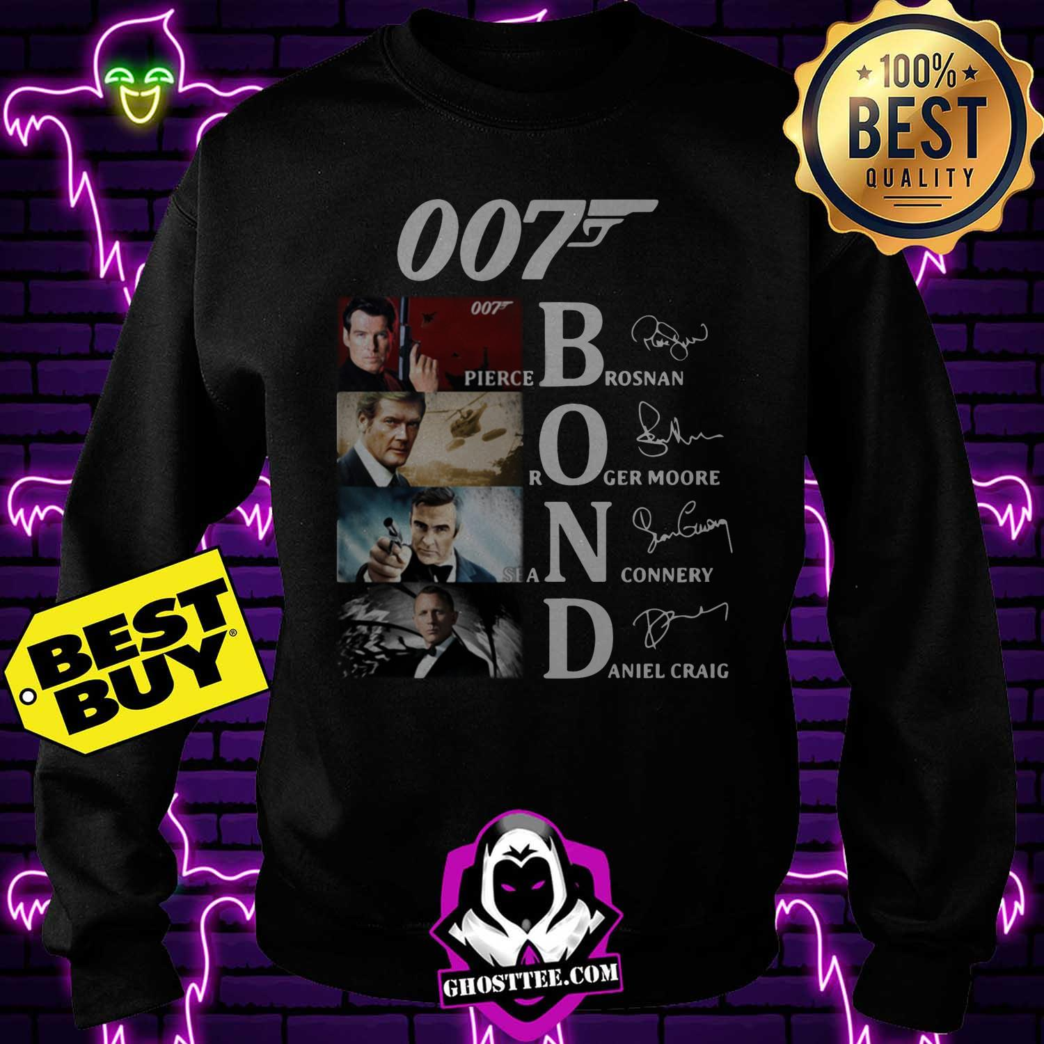 007 james bond signature sweatshirt - 007 James Bond signature shirt sweater