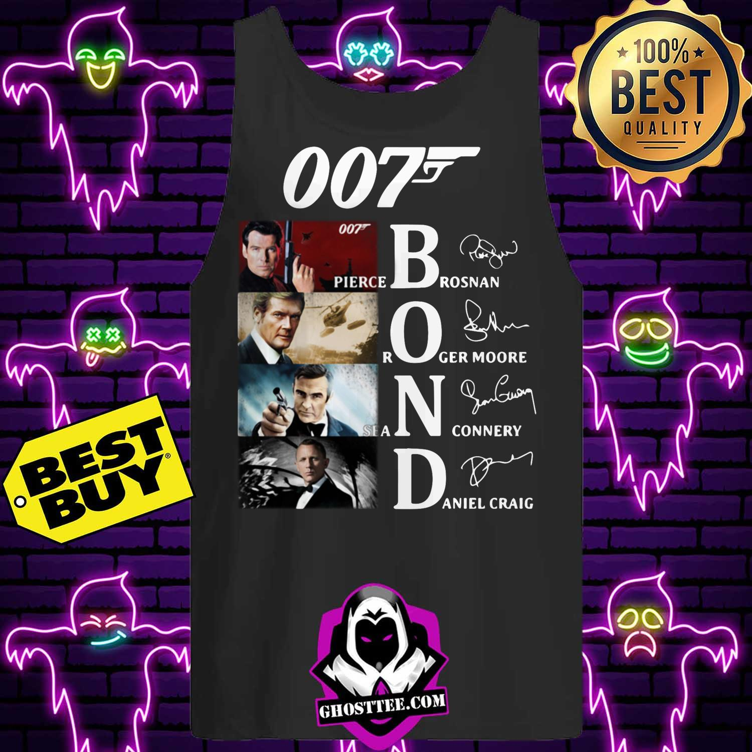 007 james bond signature tank top - 007 James Bond signature shirt sweater