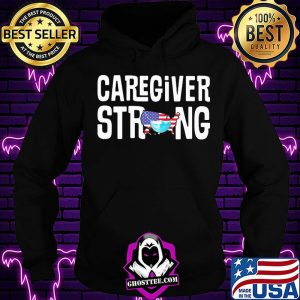 Caregiver strong american map mask covid-19 s Hoodie