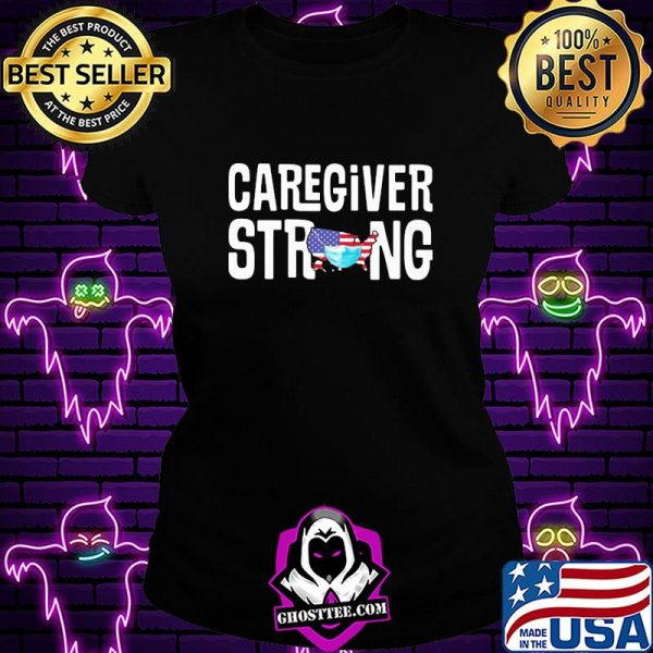 Caregiver strong american map mask covid-19 shirt