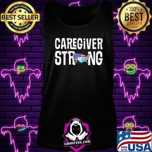 Caregiver strong american map mask covid-19 s Tank Top
