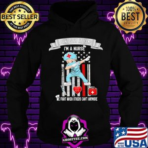 Disposable Syringe heartbeat I can't stay at home I'm a nurse we fight when others can't anymore s Hoodie