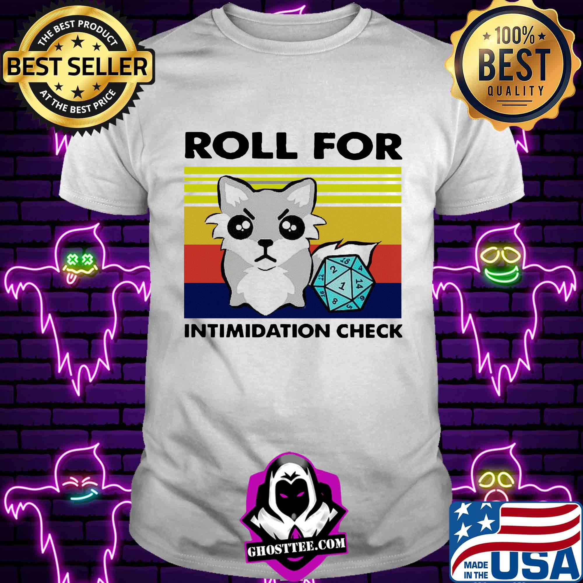 fox roll for intimidation check vintage shirt Unisex tee - Home