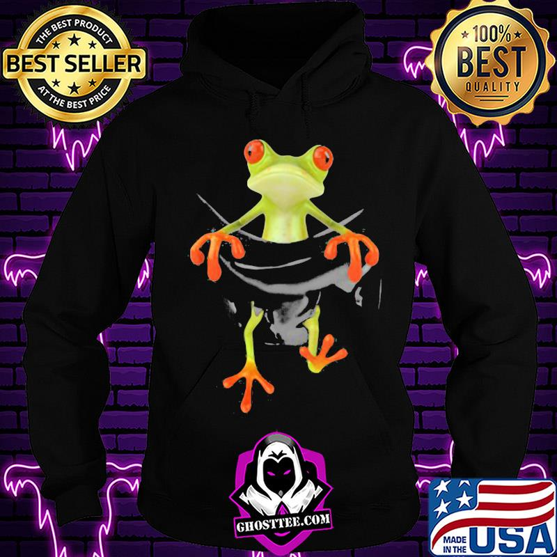 e727dfa7 frog in pocket classic shirt hoodie - Home