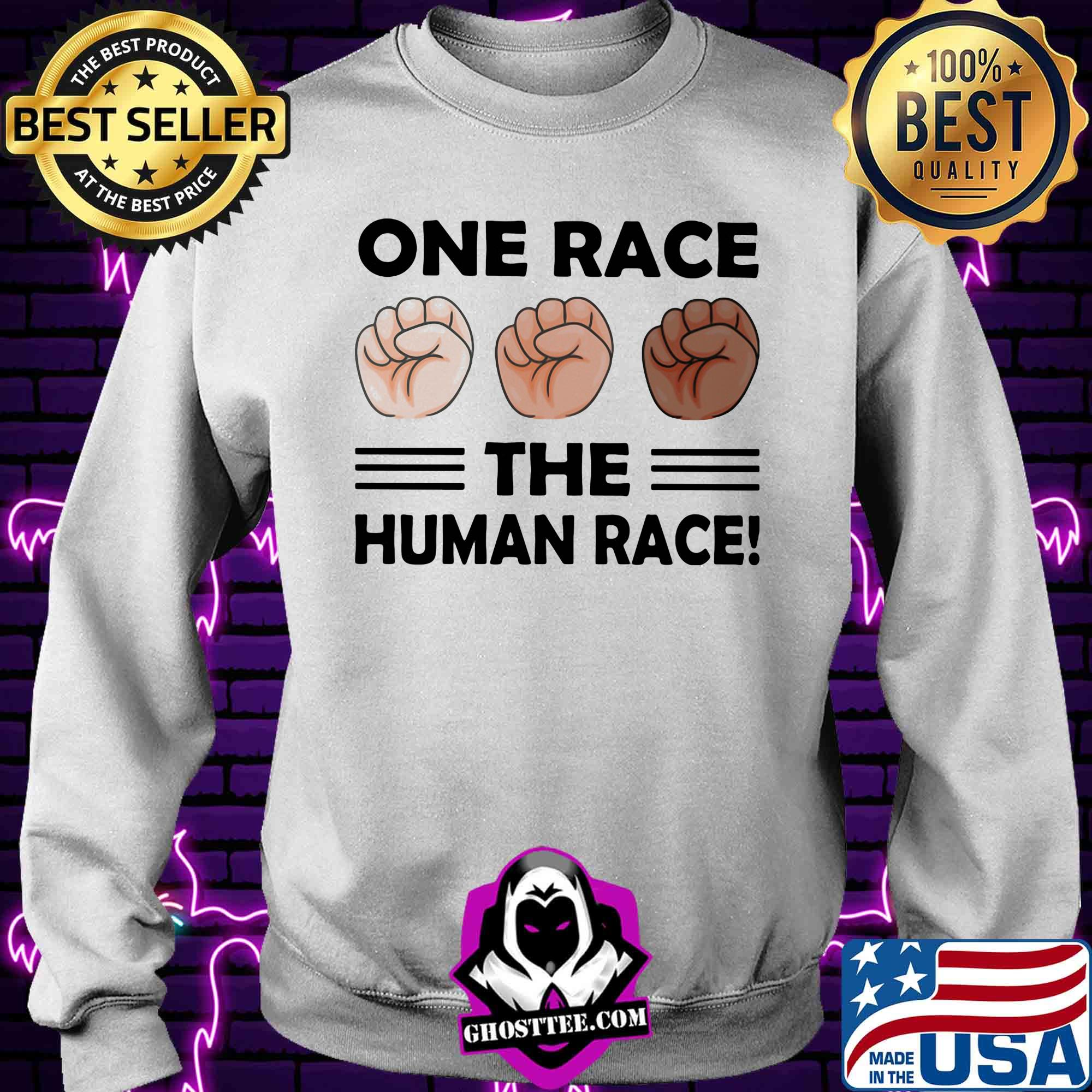 0db657ec one race the human race shirt sweater - Home