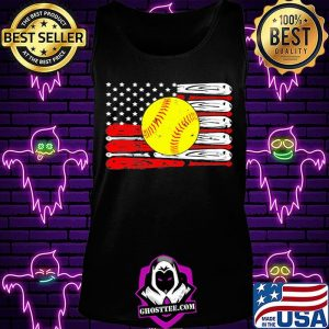 Baseball independence day american flag s Tank Top