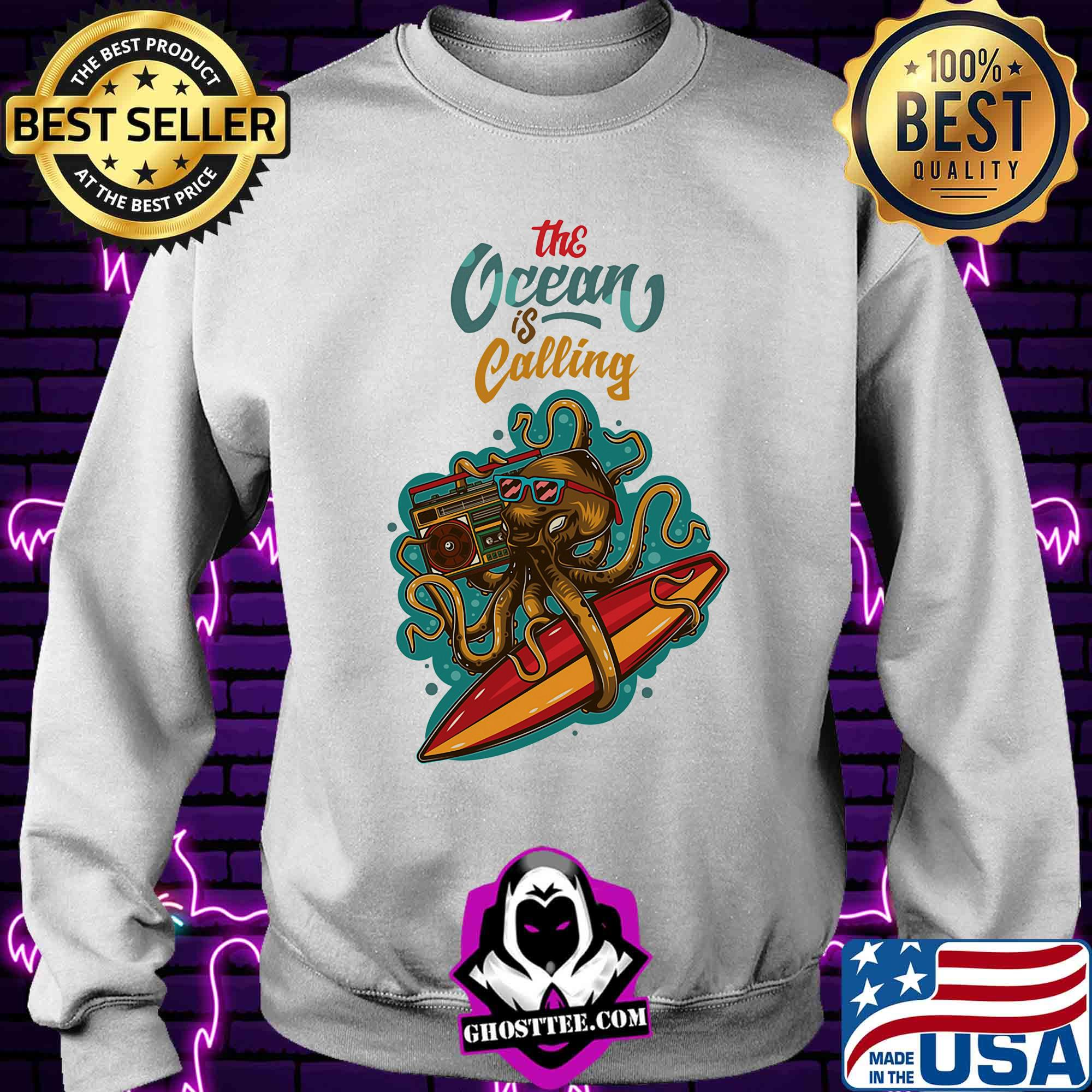 82cebfdf octopus radio the ocean is calling shirt sweater - Home