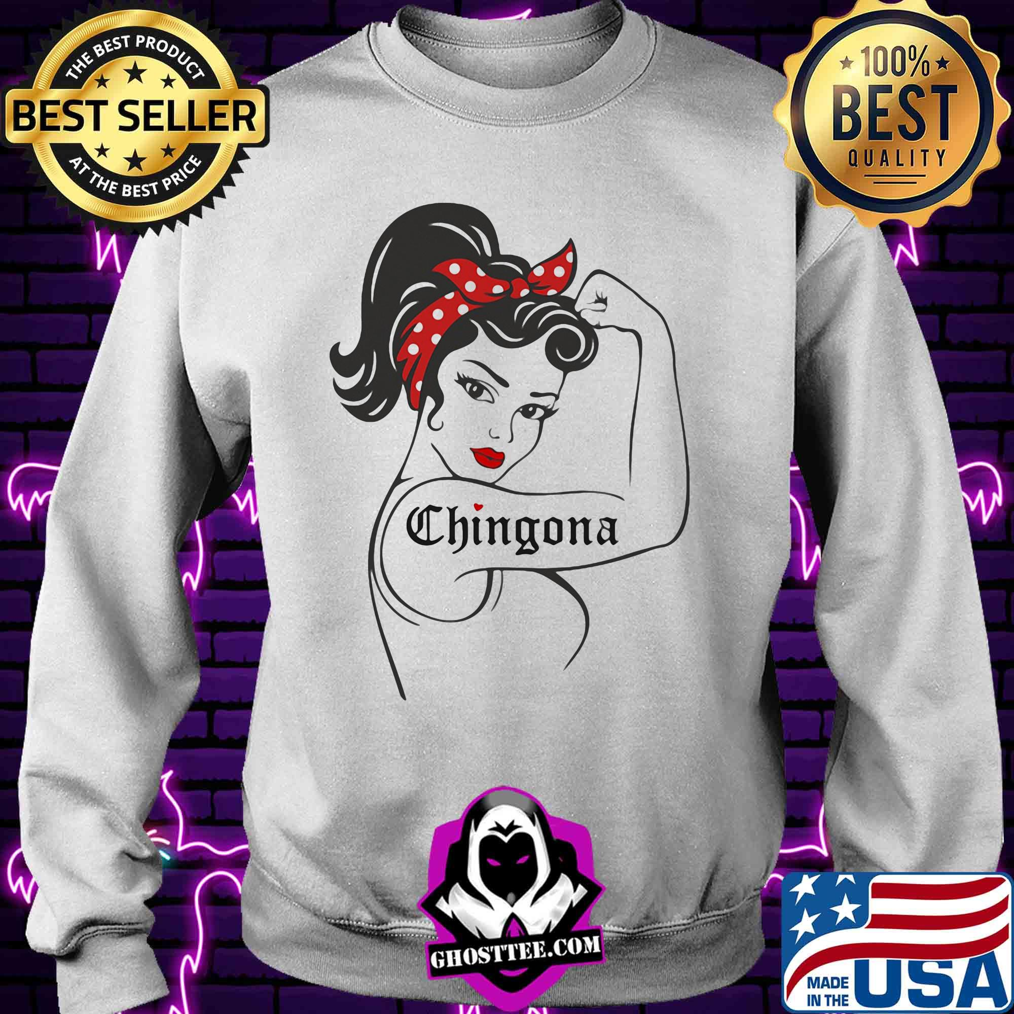 Strong woman tattoo chingona shirt