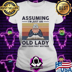Book assuming i'm just an old lady was your first mistake vintage retro s V-neck