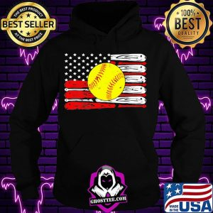 Baseball independence day american flag shirt