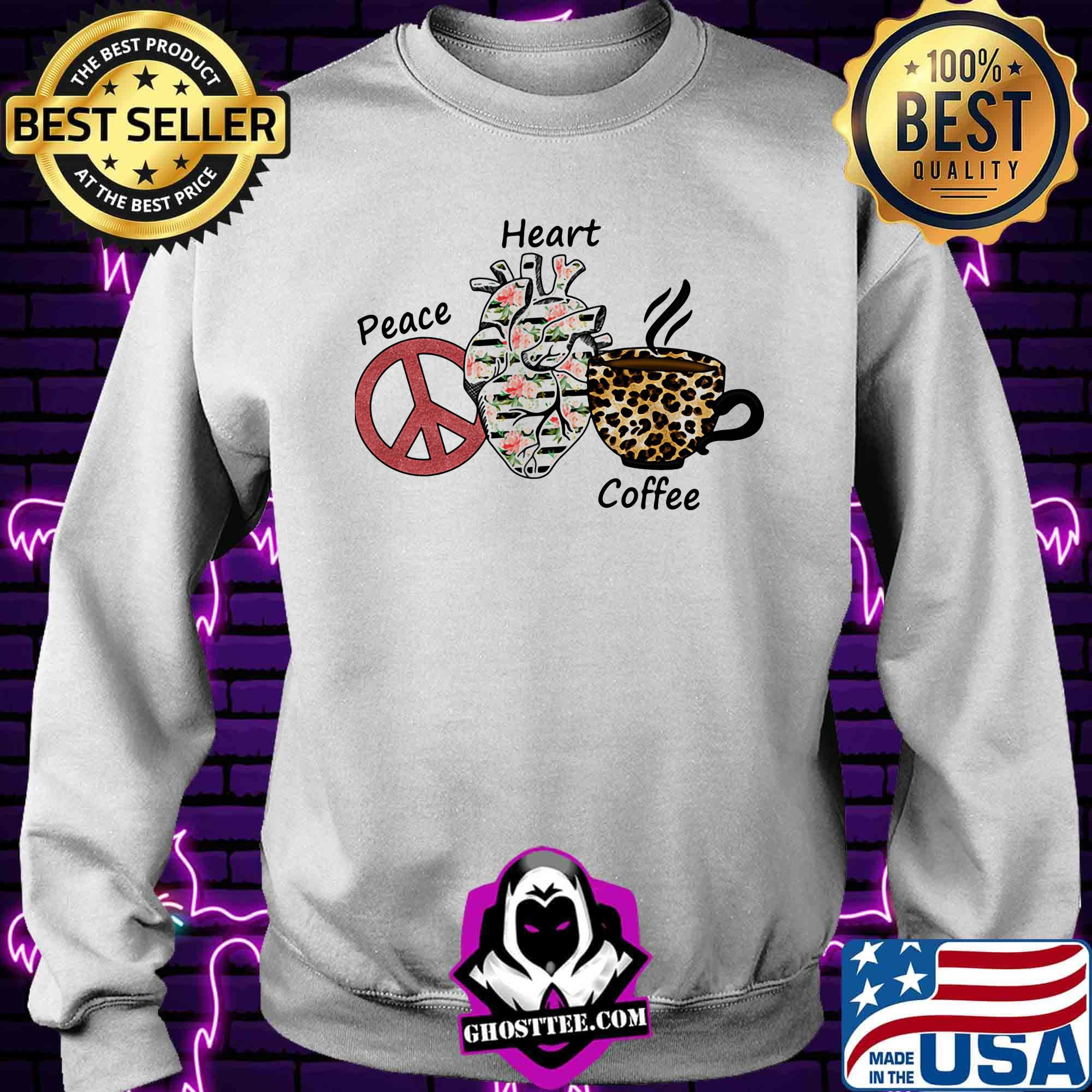 56923bc7 peace heart coffee flowers leopard shirt sweater - Home