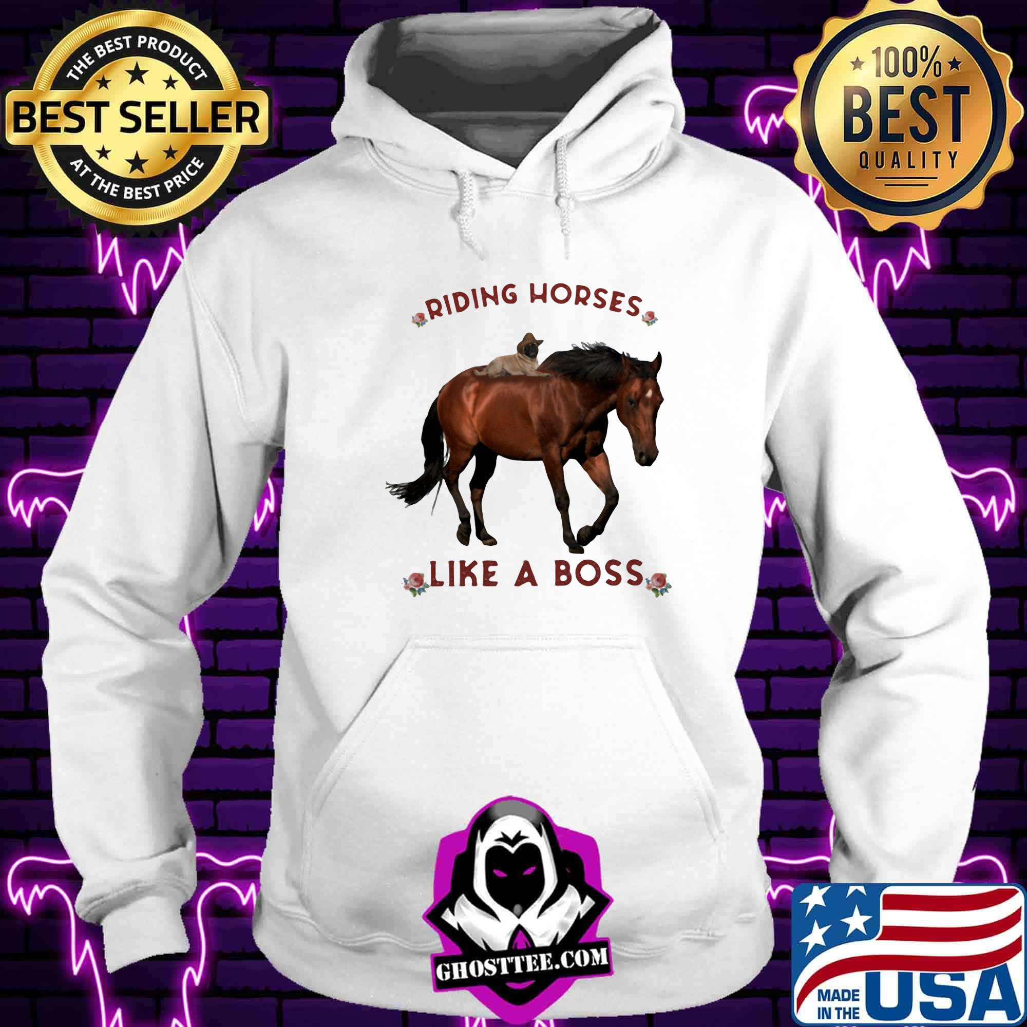 Riding horses like a boss flowers shirt