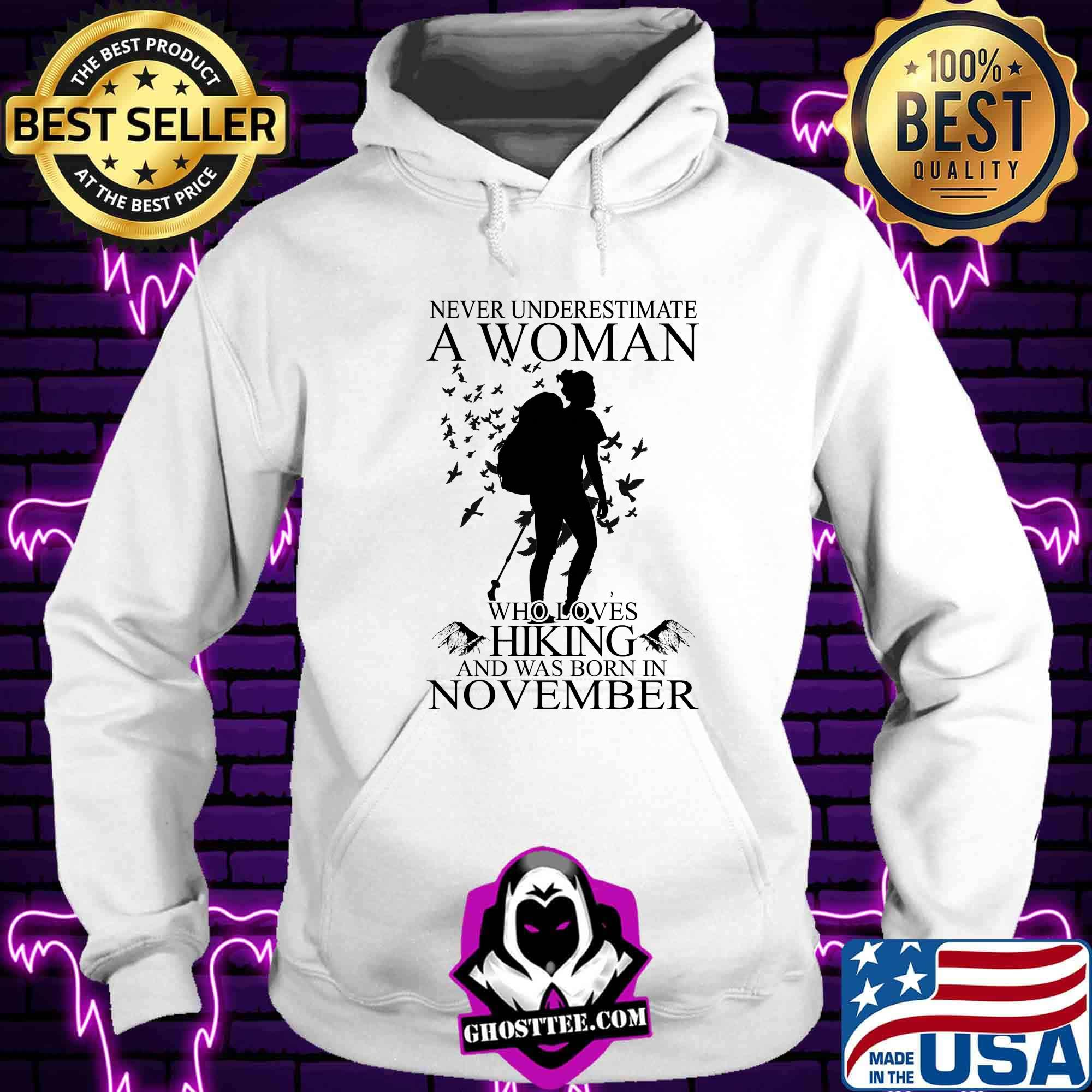 Never underestimate a woman with a guitar who was born in november shirt