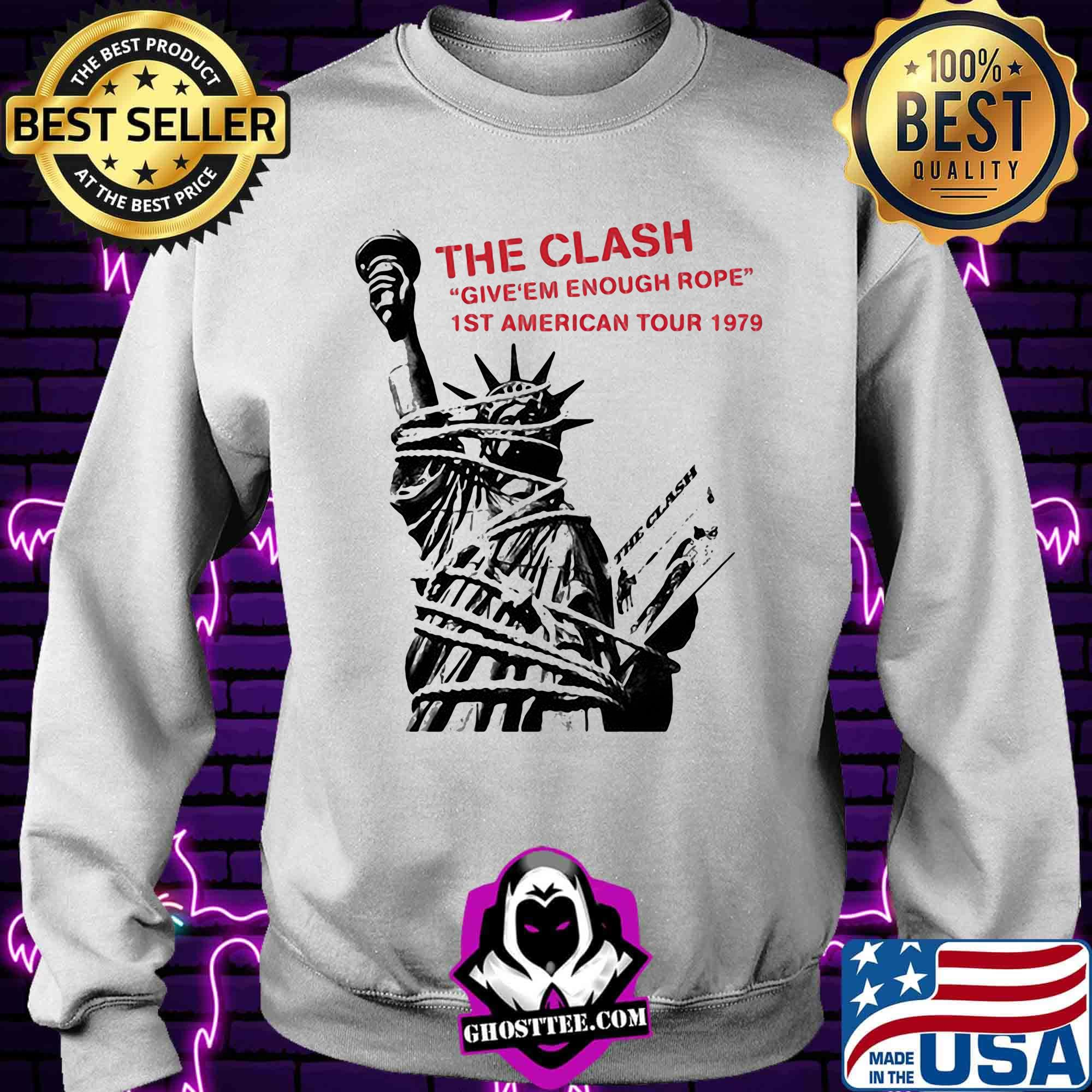 f2306a87 the clash give em enough rope 1st american tour 1979 shirt sweater - Home