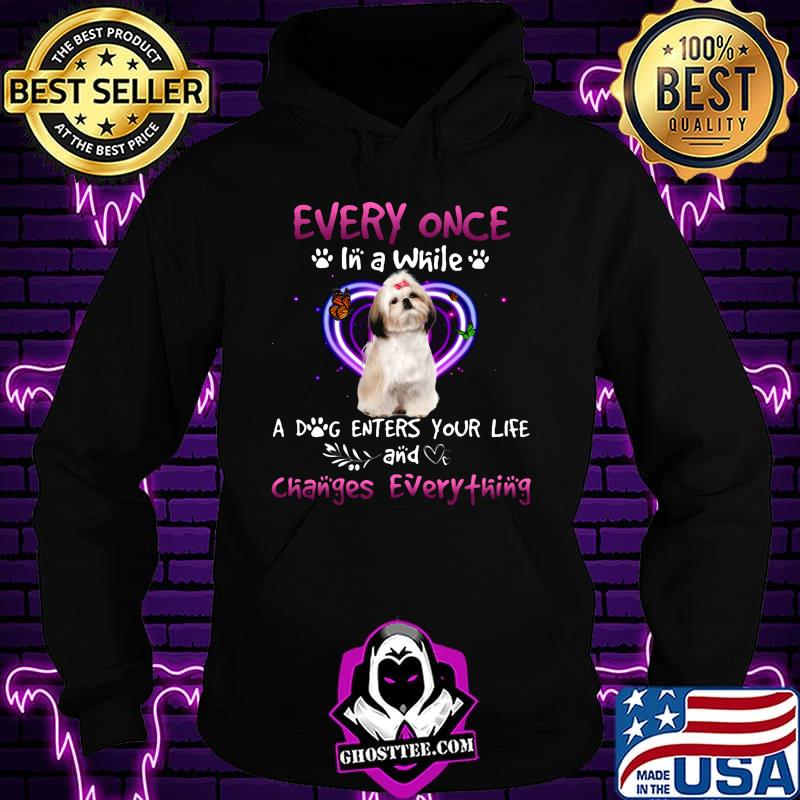 3cf927a4 shihpoo every once in a while a dog enters your life and changes everything shirt hoodie - Home