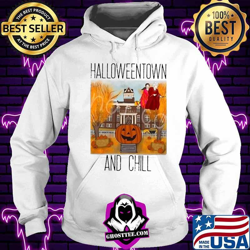 e8a5bf38 official halloweentown and chill pumpkin shirt hoodie - Home