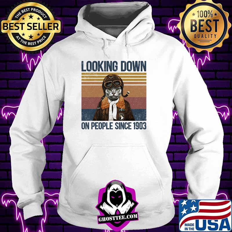 Looking down on people since 1903 cat vintage retro shirt
