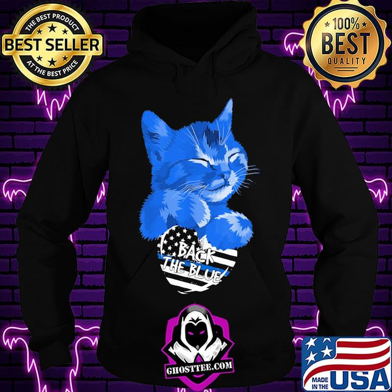 Cat Back The Blue American Flag Independence Day Shirt